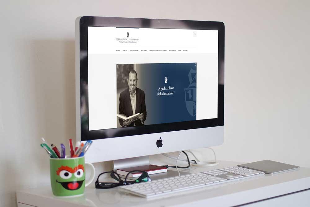 Neue Website der Verlagsdruckerei Schmidt aus Neustadt an der Aisch - natürlich im Responsive Webdesign, optimiert für alle Anzeigegeräte von Smartphone bis Desktop