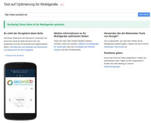Die Optimierung der Anzeige für Mobilgeräte wird zum Rankingfaktor bei Google. Bis 21. April 2014 sollten Sie Ihre Website optimiert haben, sonst kann es Einbußen beim Ranking geben.